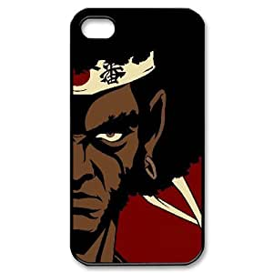 {Afro Samurai Series} IPhone 4/4s Case Afro Samurai Red, Men Case Bloomingbluerose - Black