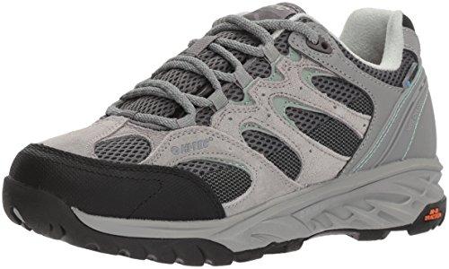 Hi-Tec Women's V-LITE Wild-FIRE Low I Waterproof Hiking Shoe, Cool Grey/Graphite/Iceberg Green, 100M Medium -