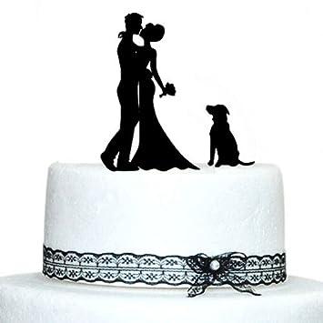Rustikal Hochzeit Tortenaufsatz Hund Braut Und Brautigam Fur