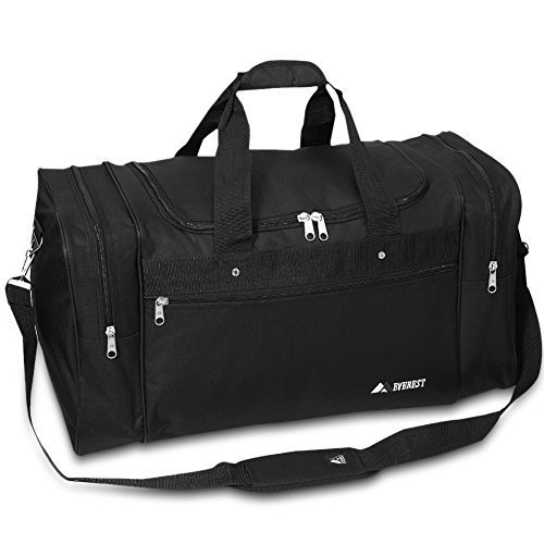 Everest Luggage Sports Travel Gear Bag, Black / Black 21.5 Inches Long By 11.5 Inches Tall By 10 Inches Wide by everest