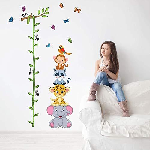 - xxiaoTHAWxe Cute Cartoon Animals Kids Height Measure Ruler Nursery Growth Chart Wall Sticker
