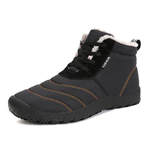 Pour Antidérapant Femme Hiver Courtes En Homme Chaussures Sport Noir Lacet Bottines Bottes Talon Air Neige Mode Chaud Plat Plein Boots f6A6Cwpq