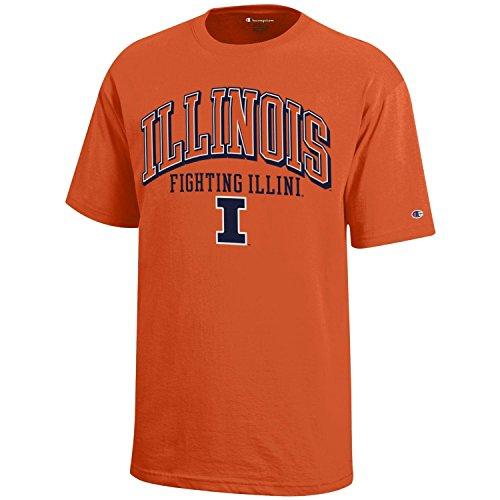 Champion NCAA Illinois Illini Youth Boys Short sleeve Jersey T-Shirt, Medium, Orange - College Team Gear