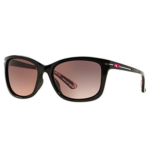 Oakley Women's Drop In OO9232-12 Cateye Sunglasses, Polished Black, 58 - Drop Sunglasses In