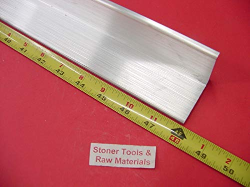 2''x 2''x 1/4'' Aluminum 6061 Angle BAR 48'' Long T6 Extruded Mill Stock .25'' Thick
