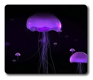 Lilyshouse Purple Jellyfish Rectangle Mouse Pad by ruishername