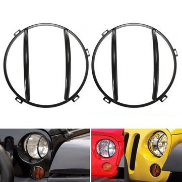 (2pcs Headlight Iron Cover Turn Signal GrillE-mounted -2015 - Exterior Accessories Body Armor - 2 X Turn Light Covers)