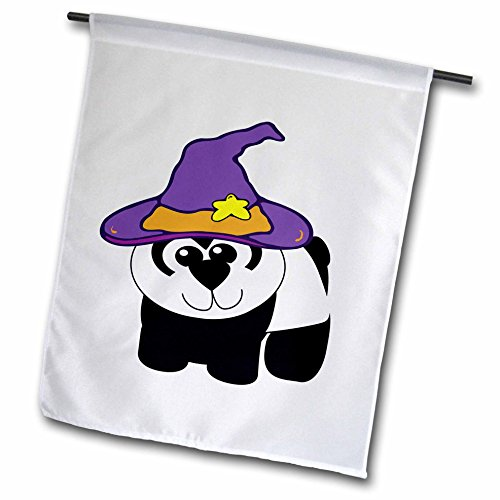 Dooni Designs Goofkins Characters - Witchy Goofkins Panda Bear Cartoon - 12 x 18 inch Garden Flag (Witchy Bear)