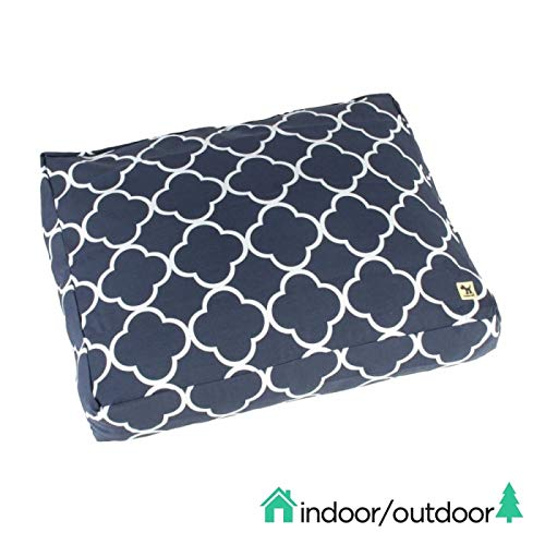 Molly Mutt Indoor/Outdoor Dog Bed Duvet Cover - Durable & Washable - The Iron Sea, Medium/Large