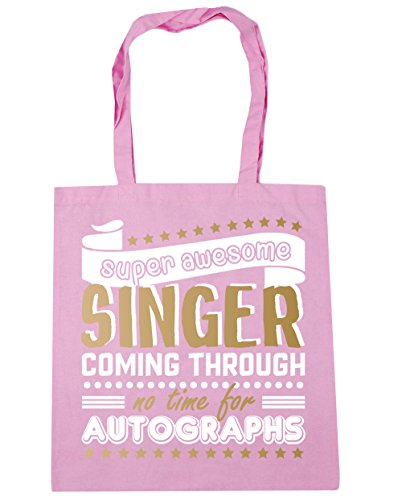 Classic Super Shopping x38cm Time Autographs HippoWarehouse 10 Awesome Beach Tote No litres Pink Bag For Singer 42cm Coming Through Gym UxCdZvx