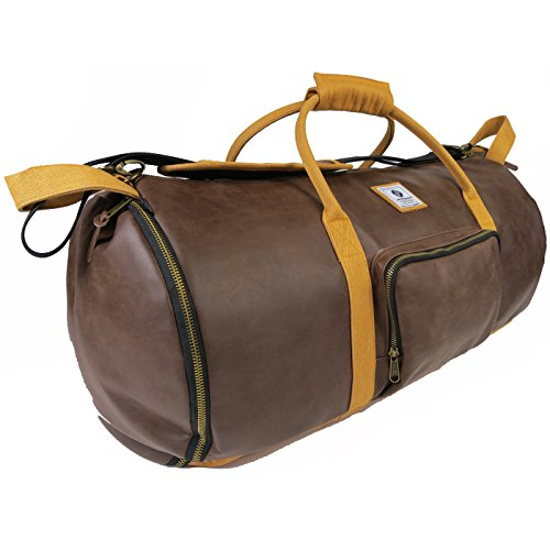 e70dd85dd64f JammyPack The Foreman Duffel with Speakers Bag, Brown Leather One Size