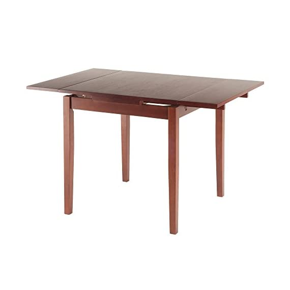 """Winsome Pulman Dining Table, Walnut - Overall extended size is 48"""" W x 29. 9"""" D x 29. 2"""" H. Compact size is 29. 9"""" W x 29. 9"""" D x 29. 2"""" H Made of solid wood in Walnut Finish Assembly required - kitchen-dining-room-furniture, kitchen-dining-room, kitchen-dining-room-tables - 41rq69ZqcpL. SS570  -"""