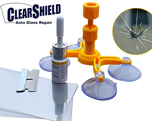 Windshield Repair Kit by Clearshield - DIY Auto Glass Rock Chip Repair Kit for Star Horseshoe Bull's Eye Chips or Cracks - No Need to Replace the Whole Windshield - with Instructions (3 Pack) by Clearshield (Image #5)