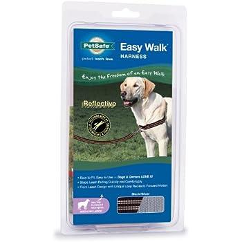PetSafe Reflective Easy Walk Dog Harness, Medium/Large, Black/Silver
