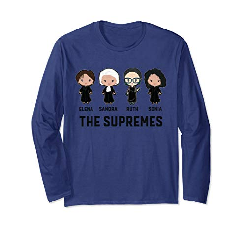 Supreme Court T-shirts - The US Supremes Court RBG Feminist Long Sleeve for Women Men