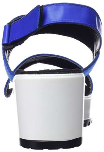 Plateau Frauen Electricopeu Tecno Sandalen Lycra MTNG Blau Azul Electric Azul fETqqw