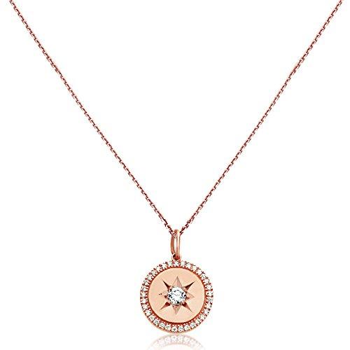 Prices for Diamond Circle Star Pendant - 5