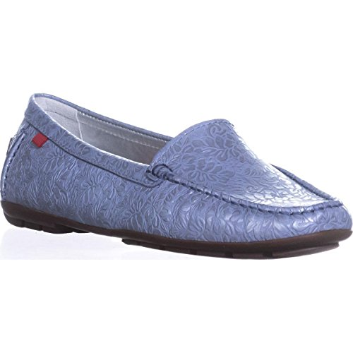 York New Style Blue Marc Joseph Cypress Loafer Driving Floral Hill Women Vintage OCx5Ewq