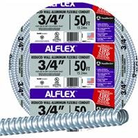 Southwire 55082305 AL flex Fo7500050M Type Rwa Reduced Wall Flexible Conduit, 3/4 In X 50 Ft, Aluminum