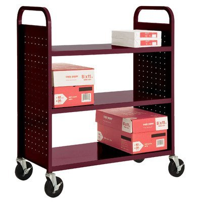 Library Shelf Carts (Sandusky Lee SF336-03 3 Flat Shelf Book Truck, 19