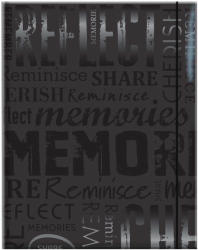 MCS 100 Pocket Big Max Embossed Memories Album, Black (823362)