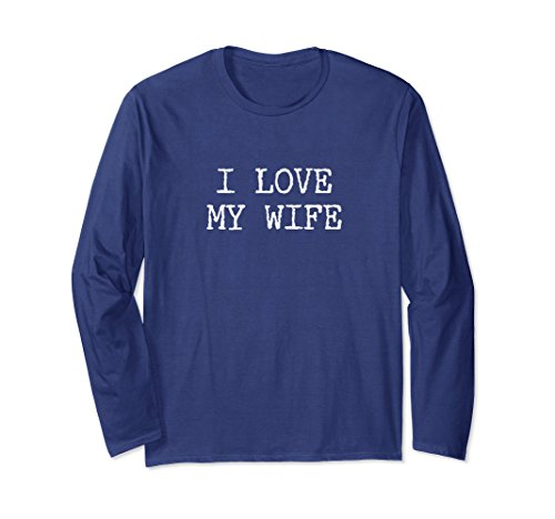 Unisex Gifts For Men Who Have Everything Under $25: I Love My Wife Large Navy