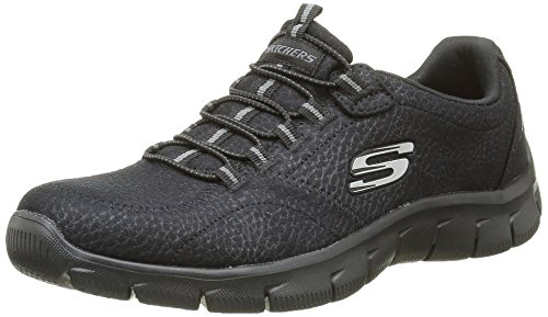 Skechers Damen Empire Take Charge Sneaker Schwarz (Bbk)