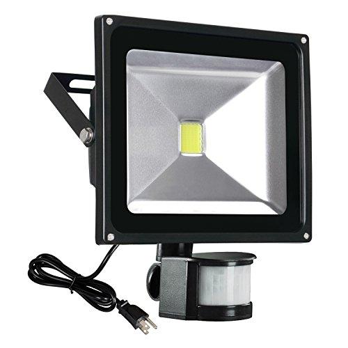 T-SUN 50W Motion Sensor Flood Lights, Outdoor LED Flood Light Adjustable Lighting Duration & Sensitivity Waterproof Security Wall Light (Light Wall 50w)