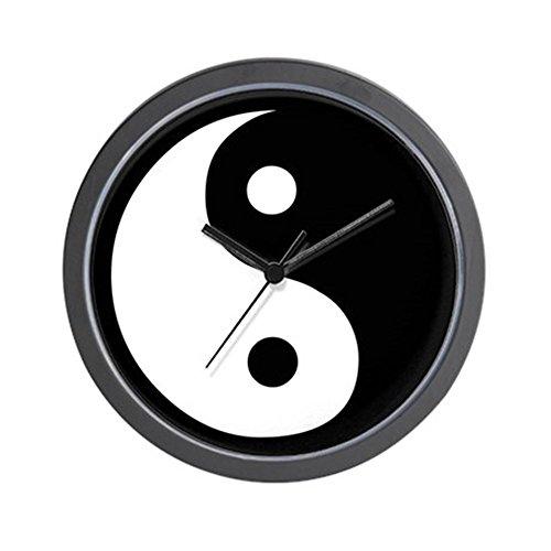 "CafePress - Ying Yang Black & White - Unique Decorative 10"" Wall Clock"