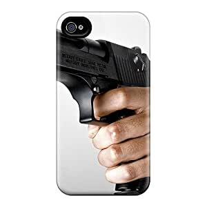 Hard Plastic Iphone 4/4s Case Back Cover,hot Very Much A Man Pistol Case At Perfect Diy