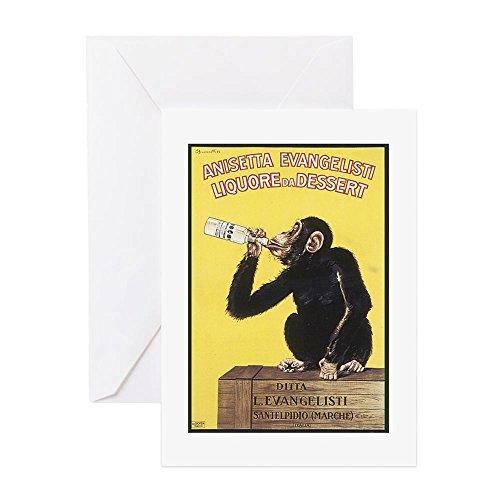 CafePress Drinking Monkey Greeting Card, Note Card, Birthday Card, Blank Inside Matte