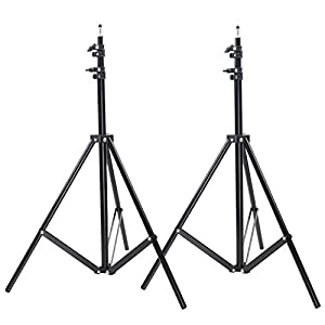 Neewer Two Aluminum Photo/Video Tripod Light Stands For Studio Kits, Lights, Softboxes-6.23 Feet/ 190CM