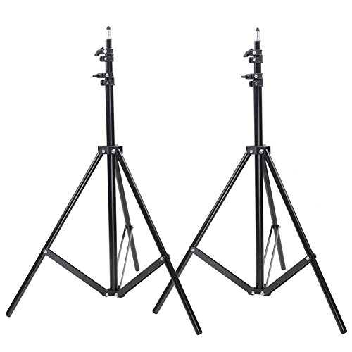 Neewer Two Aluminum Photo/Video Tripod Light Stands For Studio Kits, Lights, Softboxes-6.23 Feet/ 190CM (Light Stand Softbox)