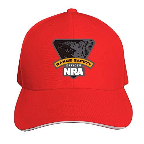 Lisa Cave NRA Range Safety Officer Adult Sandwich Baseball Cap,Adjustable Unisex Snapback Hat Red
