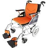 カドクラKADOKURA 介助用車椅子 リーフ チークオレンジF101-O