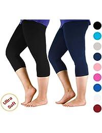 Premium Soft Light Comfy Fit Bamboo Capri Pants Under...