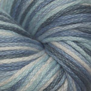 Cotton Wool Blend Yarn - Cascade Yarn - Avalon (Worsted Weight Cotton Acrylic Blend) Multi - Blues #309