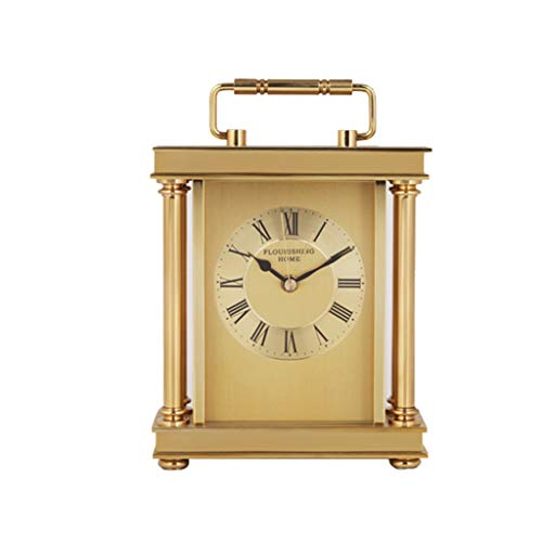 Desk Clock Metal Personality Set Table Clock European Classic Living Room Bedroom Decoration Ornaments Clock ()