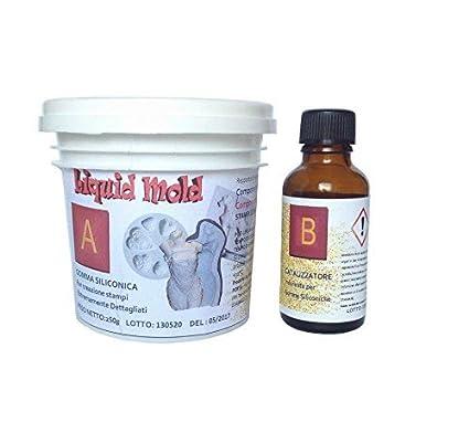 Pouring - Goma de silicona líquida (250 gramos, para el molde, bicomponente A