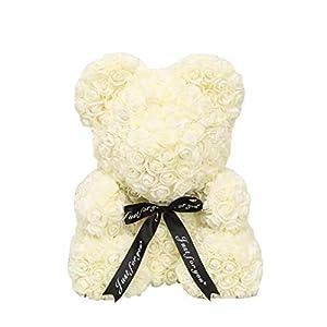 Rose Bear Teddy Bear Toy Soap Foam Rose Flower Artificial Bear Cub Valentine's Day/Anniversary /Birthday /Wedding Gift 25cm 75