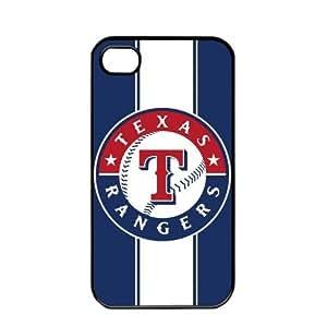 MLB Major League Baseball Texas Rangers Apple iPhone 4 / 4s TPU Soft Black or White case (Black)
