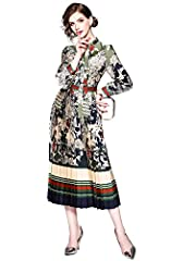 *Invite feminine florals to your wardrobe with this midi dress. Wear with heeled boots to finish.  *100% brand new and high quality *This material gives you comfortable feeling,High Quality,Fashionable & Comfortable. This is very popular ...