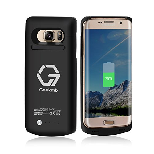 Galaxy S7 Edge Battery Charge Case, Geekmb 5200 mAh Portable Charging Case Wireless Juice Pack for Samsung Galaxy S7 Edge Backup Battery Case Quick Charge (Black)