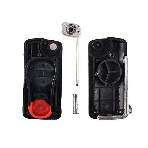 3 Button Car Remote Flip Folding Key Fob Cover Key Shell Case for Chrysler Dodge Jeep PT Cruiser Town Country Voyager Prowler by kaling (Image #3)