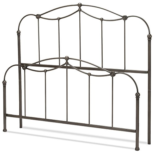 Fashion Bed Group Affinity 5/0 Bed W/O F Blacknd Tpe Complete Metal Spindle Panels and Detailed Castings, Queen, Blackened Taupe (Complete Queen Panel Bed)