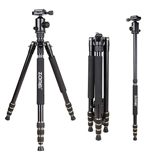 - Zomei Z688 Tripod Magnesium Alloy Monopod with Ball Head for DSLR Camera Tripod Black