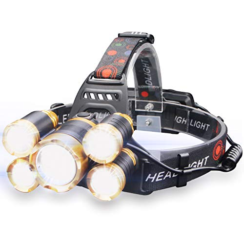 Led 4 Mode Headlamp Light Torch Camping Flashlight in US - 3