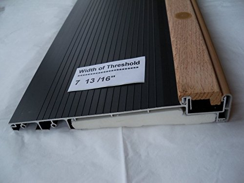 Exterior Inswing Threshold - Hardwood Cap- 7 13/16'' Wide x 72'' Length- in Dark Bronze by Endura
