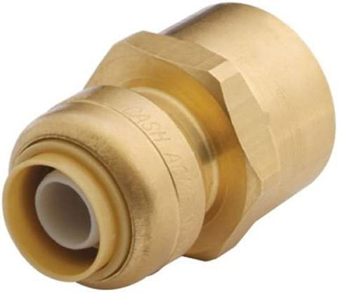"""LEAD FREE 2 PIECES 3//4/"""" X 1//2/"""" SHARKBITE STYLE PUSH FIT REDUCER COUPLING"""