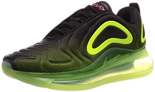 Nike Air Max 720 Mens Running Trainers AO2924 Sneakers Shoes (UK 7.5 US 8.5 EU 42, Black Bright Crimson Volt 008)